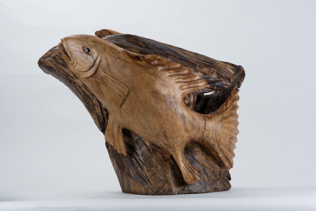 木雕作品魚
