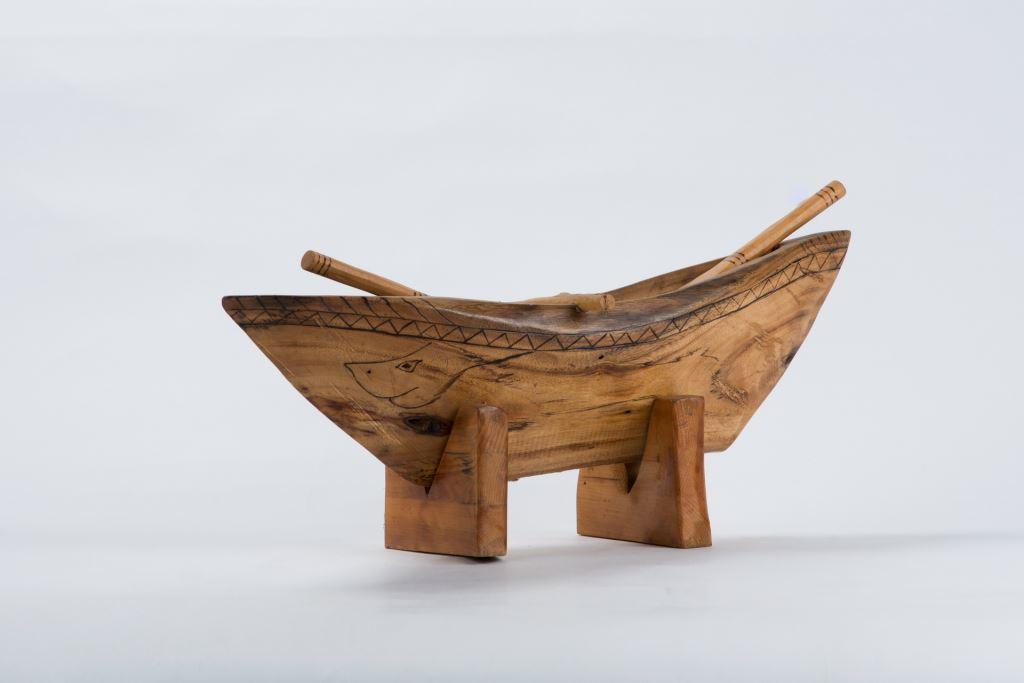 木雕作品船