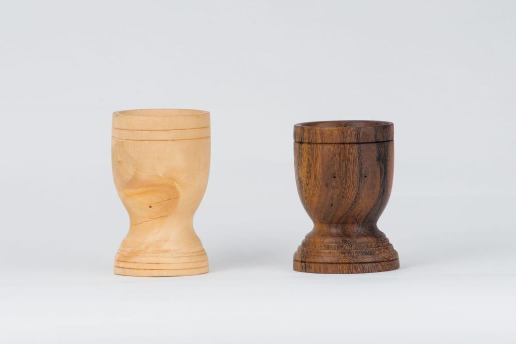 木製個性曲線杯